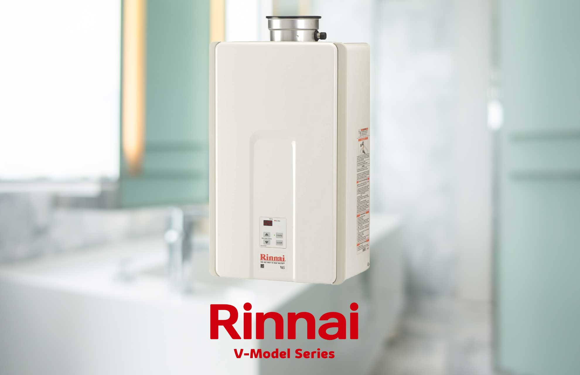 Rinnai v65iN tankless gas water heater